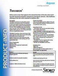 Travabon Product Info Sheet