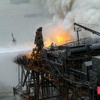 Guneshli Platform Fire