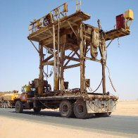 Desert Drilling Rig Move