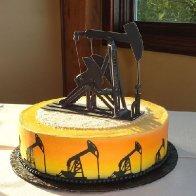 Pump Jack Oilfield Cake