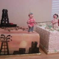 Oilfield Wedding Cake
