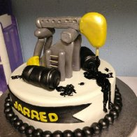 Pump Jack Oilfield Birthday Cake