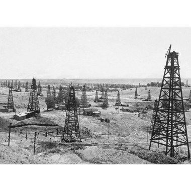 Kern River California Oilfield Circa 1929