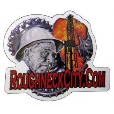 Roughneck City Oilfield Sticker