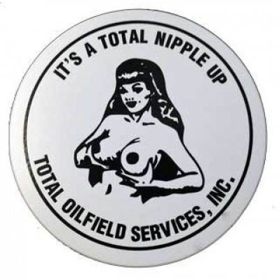 Total Nipple Up Oilfield Sticker