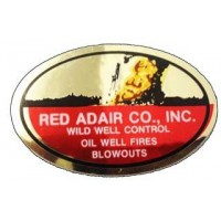 Red Adair Oilfield Sticker