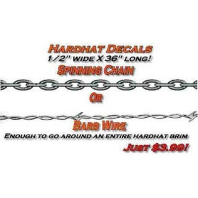 Barb Wire Spinning Chain Hard Hat Sticker