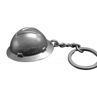 Hard Hat Stainless Steel Full Brim Keychain