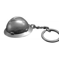 Hard Hat Stainless Steel Full Brim Keychain