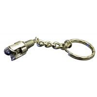 Tricone Rock Bit Keychain Pewter