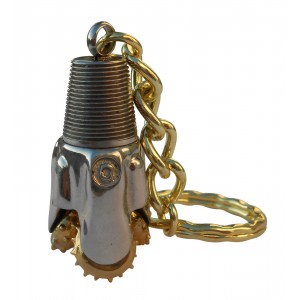 Rock Bit Oilfield Keychain