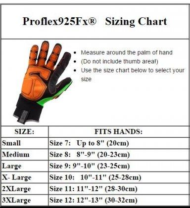 Proflex Size Chart