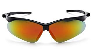 PMXtreme SB6345SP Ice Orange Mirror Lens - Black Frame and Cord