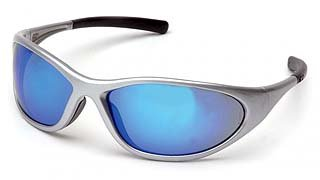 Zone II SS3365E Ice Blue Mirror Lens - Silver Frame