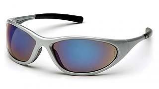 Zone II SS3375E Blue Mirror Lens - Silver Frame