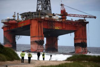 Operation to refloat oil rig grounded on Isle of Lewis 'making steady progress'