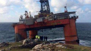 Transocean Winner: Ran aground at Dalmore, Lewis.