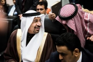 Khalid Al-Falih at OPEC meeting, Nov. 30.Photographer: Akos Stiller/Bloomberg