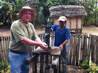 Fred Rittelmeyer is helping to drill fresh water wells in Madagascar