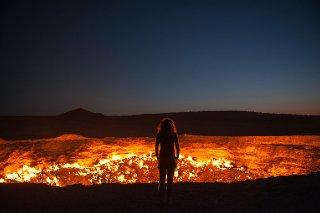 Turkmenistan Darvaza Crater (Photo Roderick Eime)