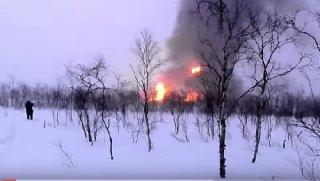 Fire in Lukoil's oil field in Shchelyabozh
