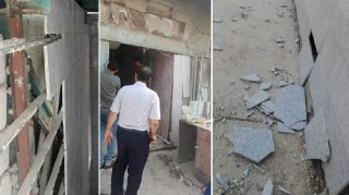 The aftermath of an earthquake in the Rifai district located north of Nasiriyah Iraq