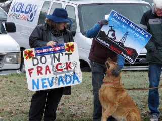 Protesters oppose drilling in Nevada