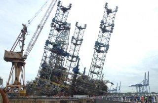 Sembcorp Jurong Shipyard rig tilt incident