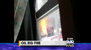 The Evart Fire Department is investigating after they say an oil rig caught fire