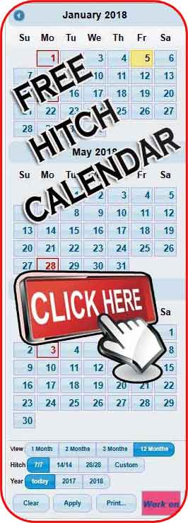 Oilfield Rotation Calendar App
