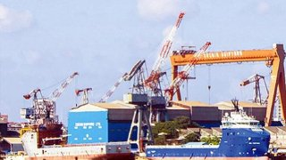 Cochin Shipyard in Kerala is engaged in shipbuilding and repairs the largest vessels in India