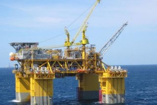 The Thunderhawk platform produces oil from Noble Energy's Big Bend field in the Gulf of Mexico about 150 miles southeast of Port Fourchon