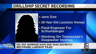 Woman secretly recorded while on Transocean rig