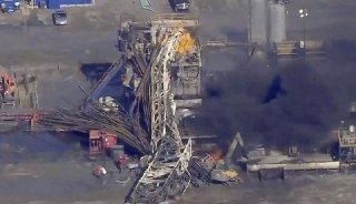 Christina Goodvoice, KOTV/NewsOn6.com via APIn this Jan. 22, 2018 file photo provided from a frame grab by Tulsa's KOTV/NewsOn6.com, fires burn at an eastern Oklahoma drilling rig near Quinton, Okla.