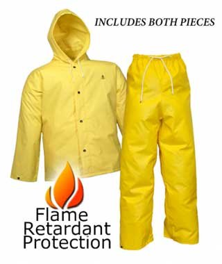 DuraScrim™ Tough and Durable Fr Fire Resistant Rain Wear