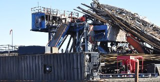 PattersonUTI Energy Inc.s Rig 219 was damaged in a January fire near Quinton Okla. that killed five men. Well operator Red Mountain Energy LLC is blaming contractors for the tragedy. U.S. Chemical Safety Board