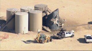 Three Hurt In Tank Battery Fire