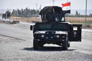 Iraqi security forces deploy military equipment after taking control of Altun Kopru village of Kirkuk Iraq on 20 October 2017