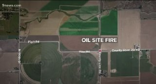Location Of Oil Site Fire