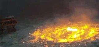 Underwater Pipeline Fire