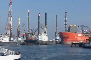 shipyard in the Botlek, Rotterdam