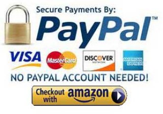 We Accept paypal-Amazon Checkout & Credit/Debit Cards