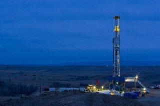 A Marathon Oil Corp. drilling rig works in the Bakken Shale of North Dakota. (Marathon Oil Corp. photo)