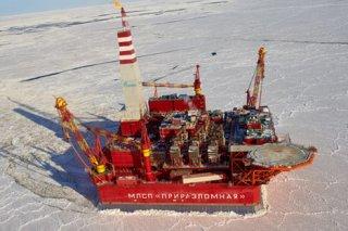 Russia's Prirazlomnaya oil platform