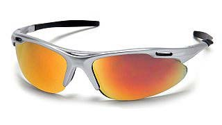 Avante SS4545D Ice Orange Mirror Lens -Silver Frame