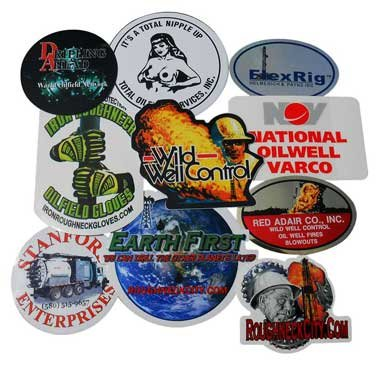 Oilfield Hard Hat Stickers