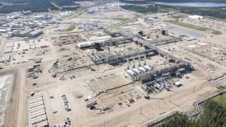 Cenovus's Foster Creek in-situ operation in northern Alberta. The company reduced its quarterly payout by 69 per cent to 5 cents (Canadian) a share.