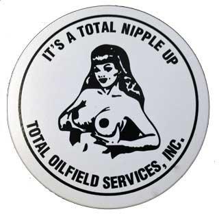 Total Nipple Up Sticker