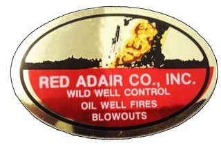 Red Adair Hard Hat Sticker