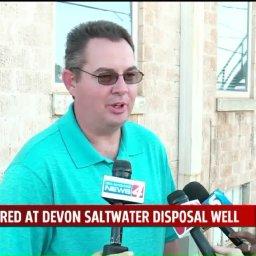 Devon Disposal Well Fire